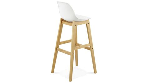 canapé direct usine ring tabouret de bar blanc pied bois naturel