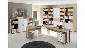 Arbeitszimmer Möbel : arbeitszimmer b ro set 2 office line sonoma eiche und wei ~ Pilothousefishingboats.com Haus und Dekorationen