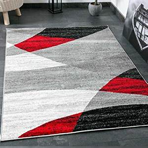 tapis blanc rouge maison image idee With tapis gris rouge blanc