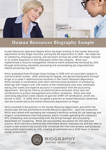 employee biography template - human resources bio writing service