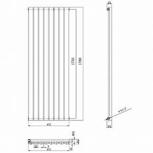 Heizung Größe Berechnen : hudson reed design heizk rper revive vertikal 1780 mm x 472 mm 1870watt moderne design ~ Themetempest.com Abrechnung