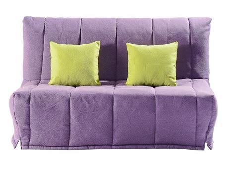 canapé convertible violet canapé bz convertible lou violet 40 200cm matelas confort