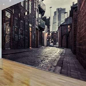 3D Europe's streets Mural wallpaper City buildings full ...