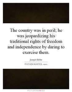 The country was... Country Freedom Quotes