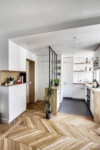 appartement paris 8 un 38 m2 refait a neuf par un archi With petit meuble d entree design 10 cuisines semi ouvertes sur le salon ou la salle 224 manger