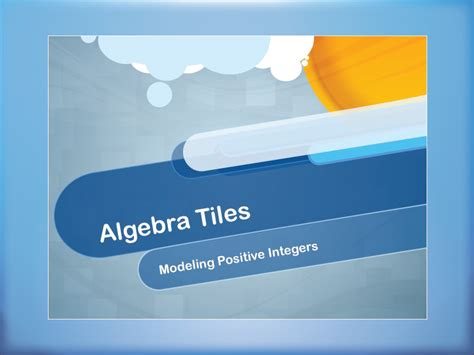 video tutorial modeling positive integers using algebra