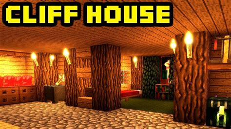 minecraft advanced mountain cliff cave house build tutorial xboxpcpepsps youtube
