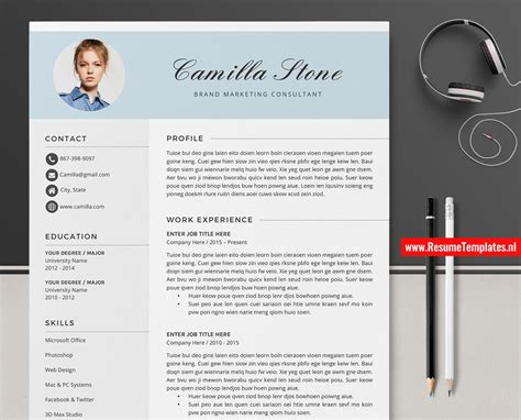 It is a comprehensive look at your academic and professional history. Creative CV Template / Resume Template Word, Curriculum ...