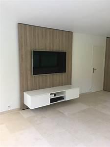Meuble Tv Mur : meuble tv accroch au mur meuble et d co ~ Teatrodelosmanantiales.com Idées de Décoration