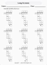 long division    student learn  memorize