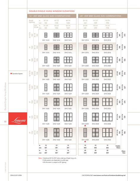 size chart  double hung windows drafting modeling   printing  lydia sloan cline