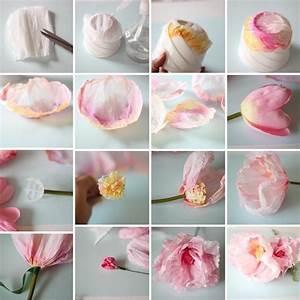 offrir des fleurs papier crepon idees pour la fete des meres With affiche chambre bébé avec offrir fleurs