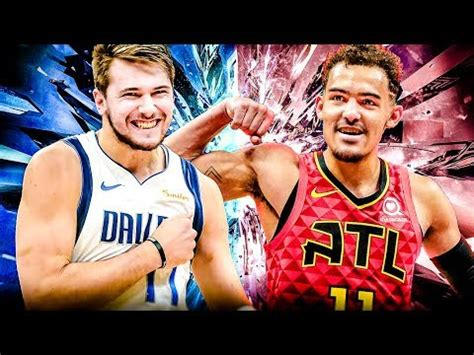 luka doncic  trae young battle   rookies youtube