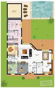 Plan Grande Maison : plans maison en photos 2018 plan habill rez de chauss e maison bungalow de luxe ~ Melissatoandfro.com Idées de Décoration