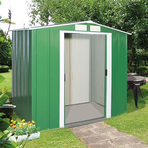 Tepro Metall Geräteschuppen  Gartenhaus Eco 6x4 Grün