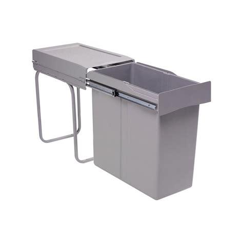 poubelle de cuisine encastrable poubelle encastrable coulissante 1 bac 40 litres
