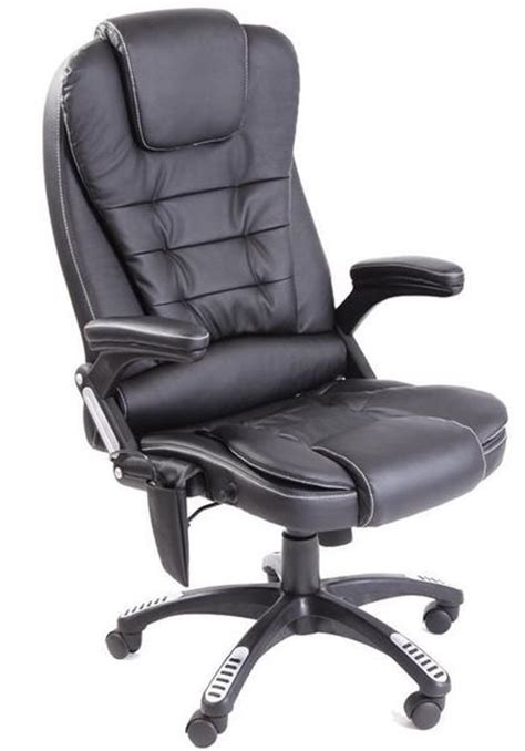 kidzmotion black leather high back reclining office chair