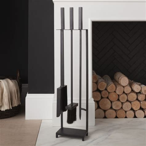 black fireplace tools reviews crate  barrel