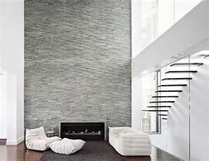 Architecture interior modern home design ideas with stone