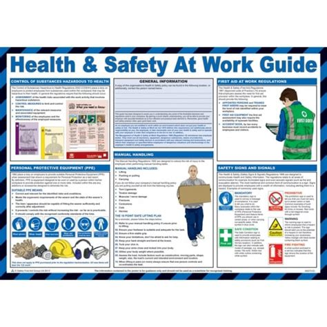 health  safety  work guide posters mm  mm