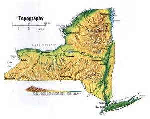 New York State Topographical Map