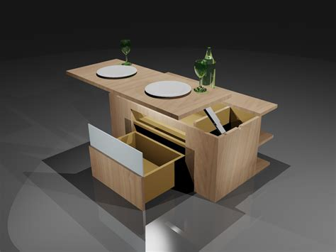 table cuisine escamotable tiroir table cuisine escamotable table escamotable pour meuble