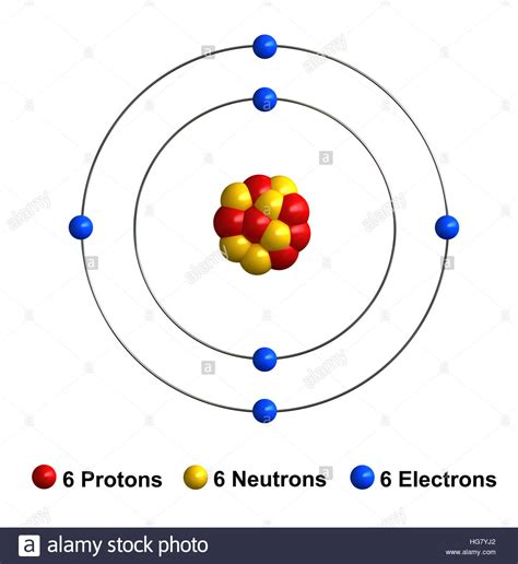 Carbon Protons And Neutrons by Tech Carbon Atom Model Protons Neutrons And Electrons