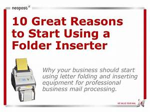 10 reasons to use neopost folder inserters With letter folder stuffer