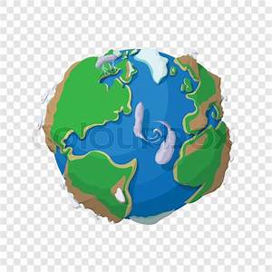 Green and blue cartoon world map globe royalty free vector gumiabroncs Images