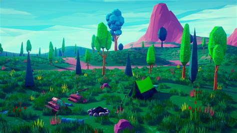 poly stylized environment  emek ozben