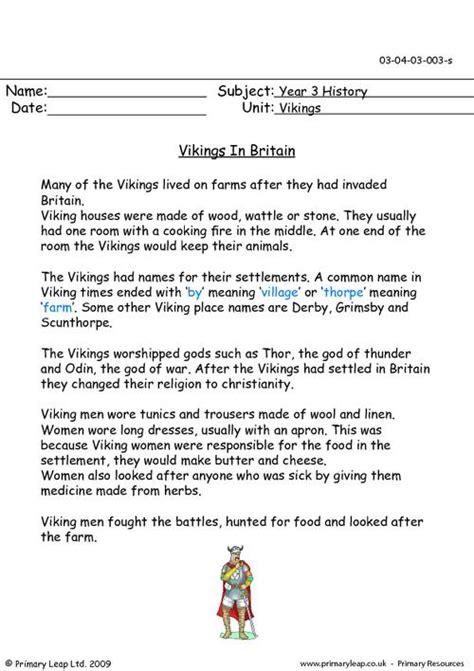 vikings  britain primaryleapcouk