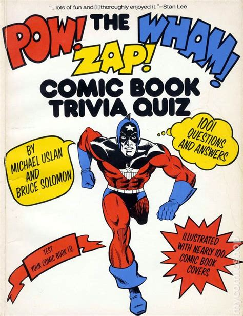 zap wham pow pow wham zap comic book trivia quiz sc 1977 morrow