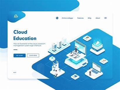 Education Cloud Animation Data Dribbble Computer Server