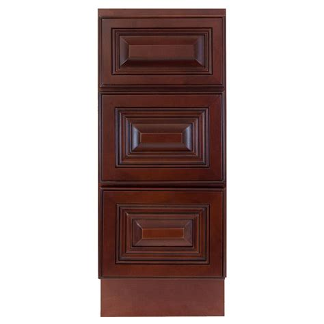 Bathroom Base Cabinets by Lesscare Cherryville 12 Quot Bathroom Maple Vanity Drawer Base