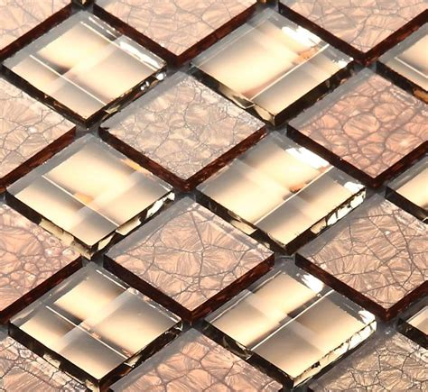 aliexpress com buy brown crystal mirror glass mosaic