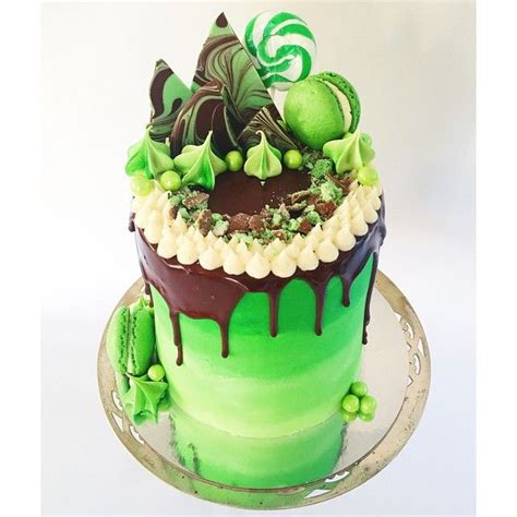 The Brief Was #green , A Red Velvet Cake With Cream Cheese