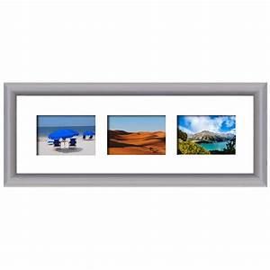 Cadre Photo Multivue : cadre en bois arrondi gris 2 cm multivues 3 photos 10 x 15 ou 15 x 10 ~ Teatrodelosmanantiales.com Idées de Décoration