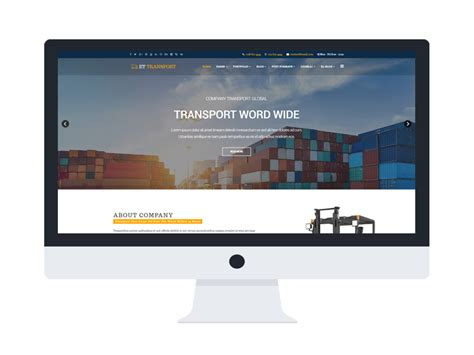 Transport Website Template by Et Transport Free Responsive Transport Website Template