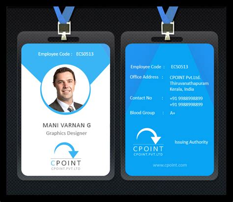 Staff Id Badge Template by Fabowl Designs Company Staff Id Card Design