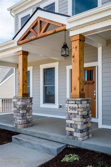 ideas  stone columns  pinterest porch