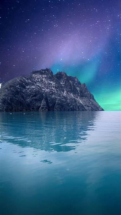 Ios Iphone Seascape Aurora 5k Wallpapers Nature