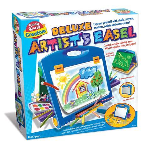 deluxe kids artist easel  art supplies set