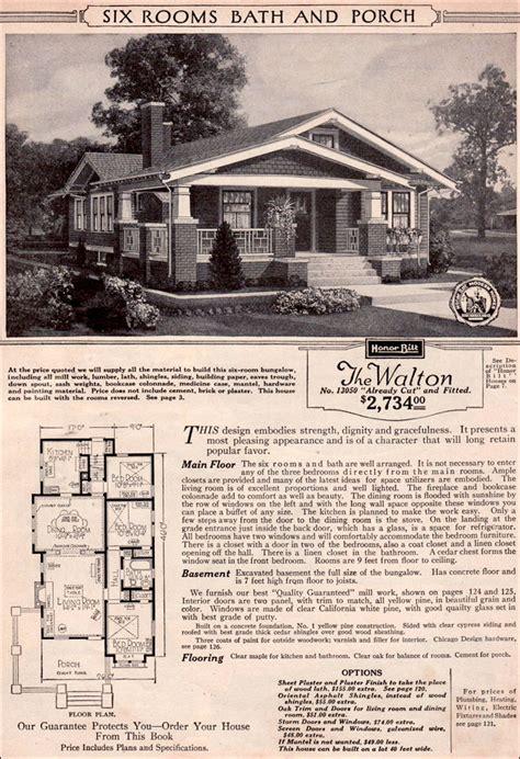 craftsman style bungalow  sears modern home kit house walton