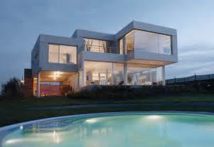 front design minimalist house design cubic structure openness rear exterior