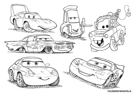 cars characters coloring cars coloring pages