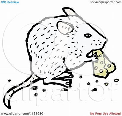 Cheese Eating Mouse Cartoon Illustration Royalty Lineartestpilot