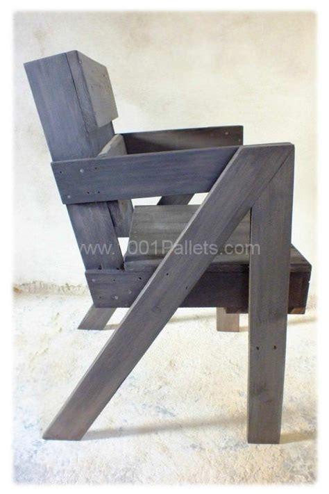 chaise en bois de palette pallet chair chaises en bois