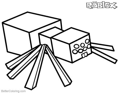 Roblox Roblox Kleurplaat by Roblox Minecraft Coloring Pages Spider Free Printable