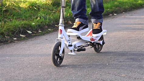 space scooter ein roller im haertetest youtube