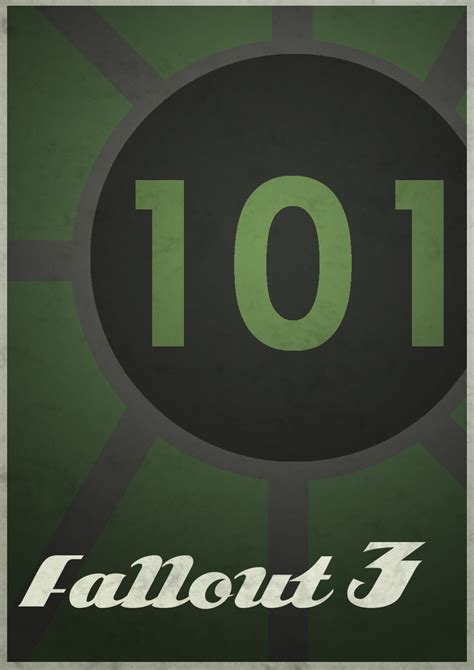Minimalist Video Game Posters 1 Fallout3 By Thesamfiles